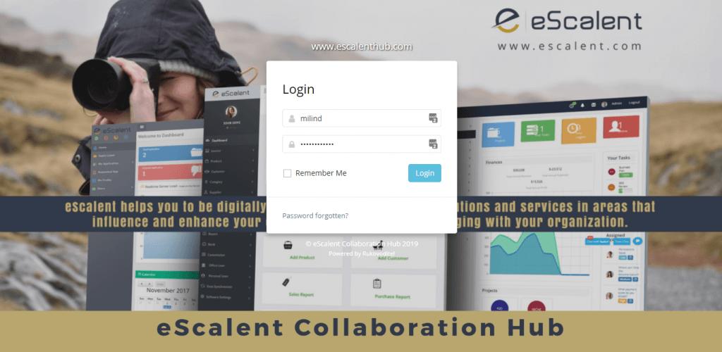 eScalent Applications Portfolio - Collaboration Hub Interface