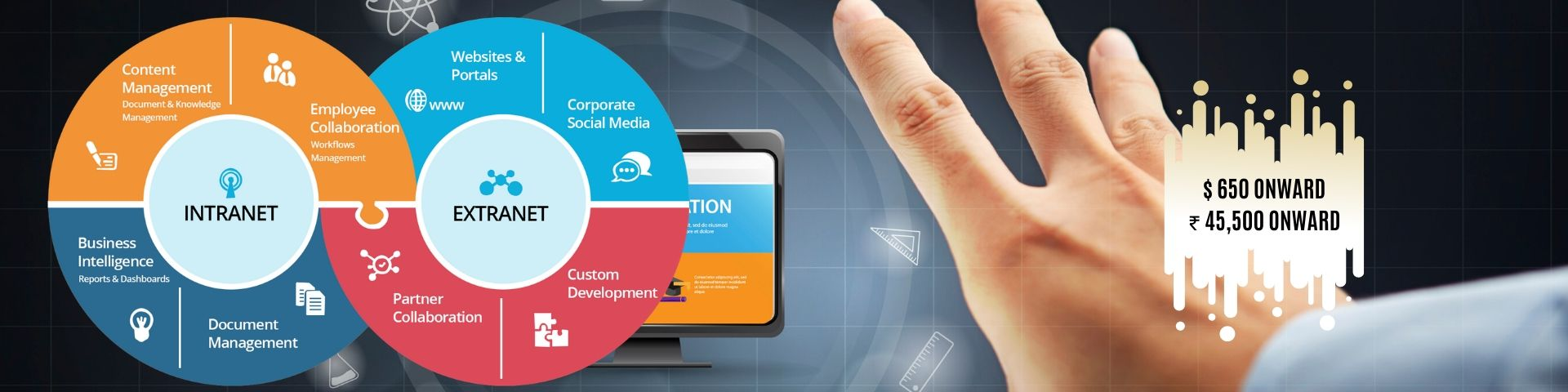 eScalent Intranets and Extranets Banner - eScalent   Web Design Agency in India